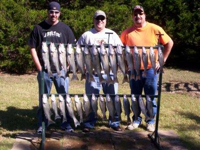 Lake Texoma striper fishing with StriperMaster.com