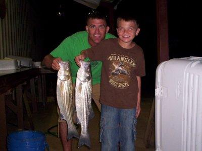 Lake Texoma striper caught with StriperMaster.com guide service
