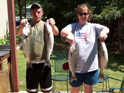 Lake Texoma striper fishing with StriperMaster.com