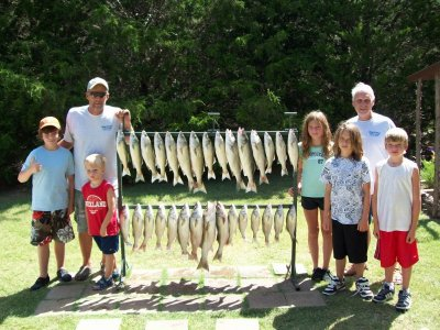 Lake Texoma striper fishing with StriperMaster Guide Service
