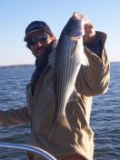 Lake Texoma trophy striper fishing with stripermaster