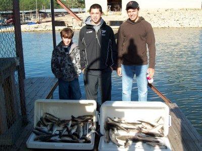 Lake Texoma striper fishing report