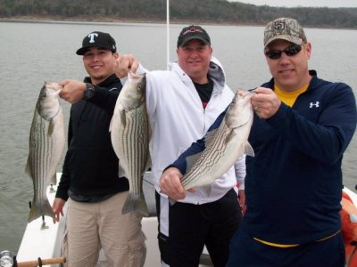 Lake Texoma striper fishing report