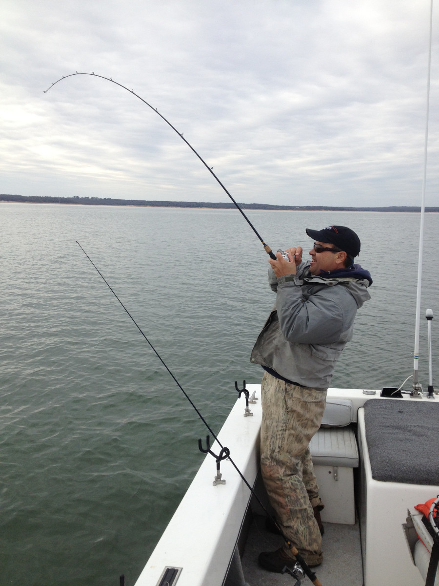 Fishing pictures of lake texoma striper fishing guide for Striper fishing tips
